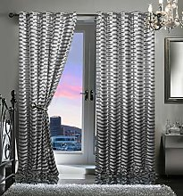 Bahia Luxury Velvet Curtains Eyelet Top Fully