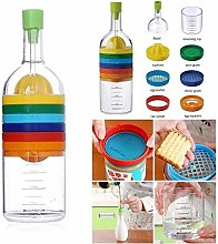 Bahob® 8 in 1 Kitchen Tool Plastic Bin Bottle