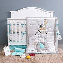 BAIGIO Baby Bed Linen Set 7-Piece Baby Crib Sets