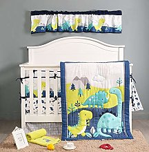 BAIGIO Baby Bed Linen Set 7-Piece with Bed Skirt -