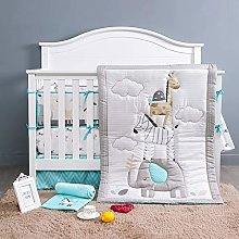 BAIGIO Baby Bedding Set 7-Piece Baby Crib Sets Cot
