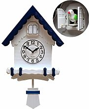 BAIHAO Cuckoo Clock Black Wall Clock Antique
