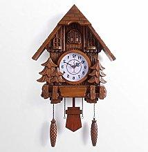 BAIHAO Cuckoo Wall Clock European Birds Out of the