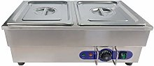Bain Marie Commercial Food Warmer, Stainless