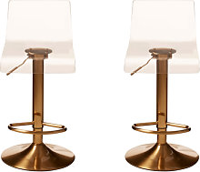 Baino Clear Acrylic Seat Bar Stool With Golden
