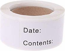 BAIRU 125pcs/roll Food Storage Date Labels