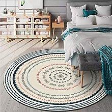 BAITUB Round Carpet Area Rugs Stylish Beige Circle