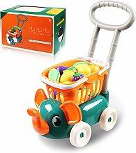 BAIXING Children Shopping Cart With Fruit