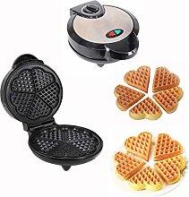 BAIXING Heart Waffle Maker Non-stick Waffle