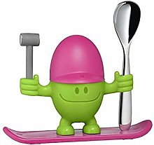 Baiyeee Egg cup with spoon, funny egg cup