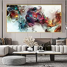 bajbajbaj1 Colorful Ocean Abstract Canvas Painting