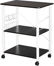 Baker's Rack 3-Tier Kitchen Utility Microwave