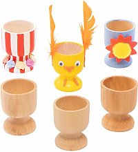 Baker Ross EA448 Wooden Egg Cups Craft Project —