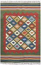 Bakero Kilim Classic K-14 Rug Wool Green 125 x 75