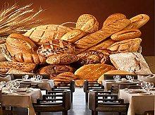 Bakery Wallpaper Wheat with Bread 3D Modern Mural