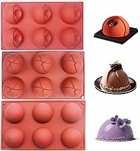 Bakeware Set 3pcs Dome Silicone Mold for Cake