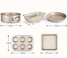 Baking 5Pcs / Set Stainless Steel Cake Bakeware