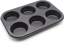 Baking Mold 6/12 Holes Carbon Steel Cake Mold