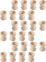 Balacoo 24pcs Wooden Egg Cup Holders Wood Egg