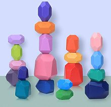 Balancing Stones Wooden Stacking Toys, 20 Pieces