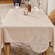 BALCONY & FALCON Rectangle Faux Linen Table Cloth,