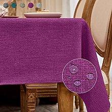 Balcony&Falcon Tablecloth linen look tablecloth