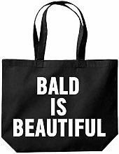 Bald is Beautiful Tote Shopping Gym Beach Bag 39 x