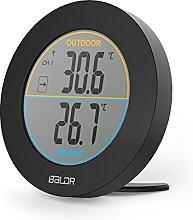BALDR Wireless Indoor/Outdoor Thermometer, Black
