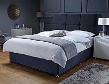 Balencigo Suede Divan Bed Set with 24 inch