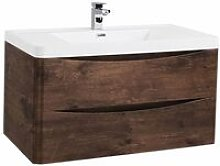 Bali 2-Drawer Wall Mounted Vanity Unit with Basin