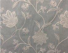 Bali Dis Duckegg Blue Embroidered Linen Fibre