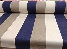 Bali Stripe Beige/Blue by Fryetts 140cm Wide