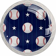 Ball and Stars 4 Pack Round ABS Drawer Knob,