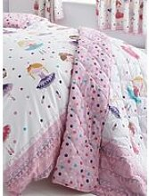 Ballerina Dancer Quilted Throw Pink Girls Bedroom Accessory