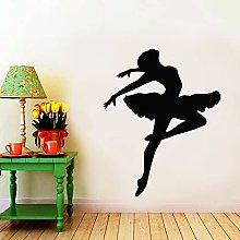 Ballerina Silhouette Wall Decal Ballet School