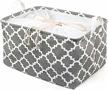 Ballery Fabric Storage Basket, Foldable Square