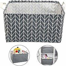 Ballery Square Cotton Fabric Storage Bins, Storage