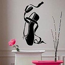 Ballet Dance Shoes Wall Sticker Girl Ballerina