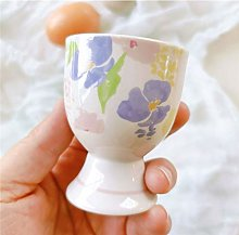 Balloon Whisk Egg Cup Cute Ceramic Soft Boiled Egg