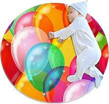 Balloons, Round Area Rug Pattern Round Children