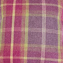 Balmoral Amethyst Wool Effect Thick Tartan Plaid