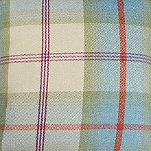 Balmoral Aqua Wool Effect Thick Tartan Plaid
