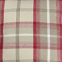 Balmoral Cranberry Wool Effect Thick Tartan Plaid
