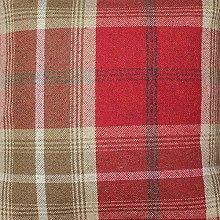 Balmoral Red Wool Effect Thick Tartan Plaid