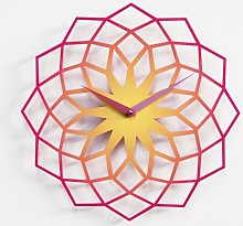 Baltzell Wall Clock Ebern Designs Colour: Purple