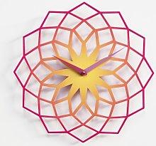 Baltzell Wall Clock Ebern Designs Colour: Purple