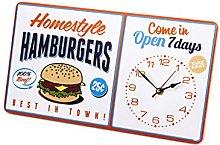 Balvi Wall clock Hamburgers White colour Original