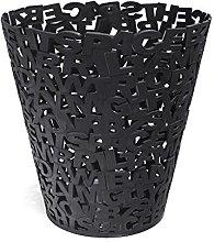 Balvi Wastebasket Letters Black colour Plastic 30cm