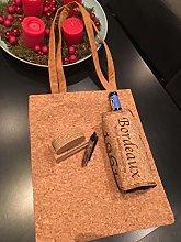 Balvi Wine cooler Cork Brown colour with wine