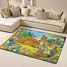 Bambi Area Rug Floor Rugs Living Room Bedroom Home